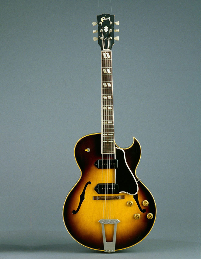 Guitare électrique ES 175 D, Gibson,  Kalamazoo, 1956 © Cité de la musique, Jean-Marc Anglès