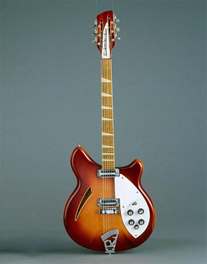 Guitare électrique Rickenbacker, États-unis, 1966-CMIM000019366 © Cité de la musique, Jean-Marc Anglès