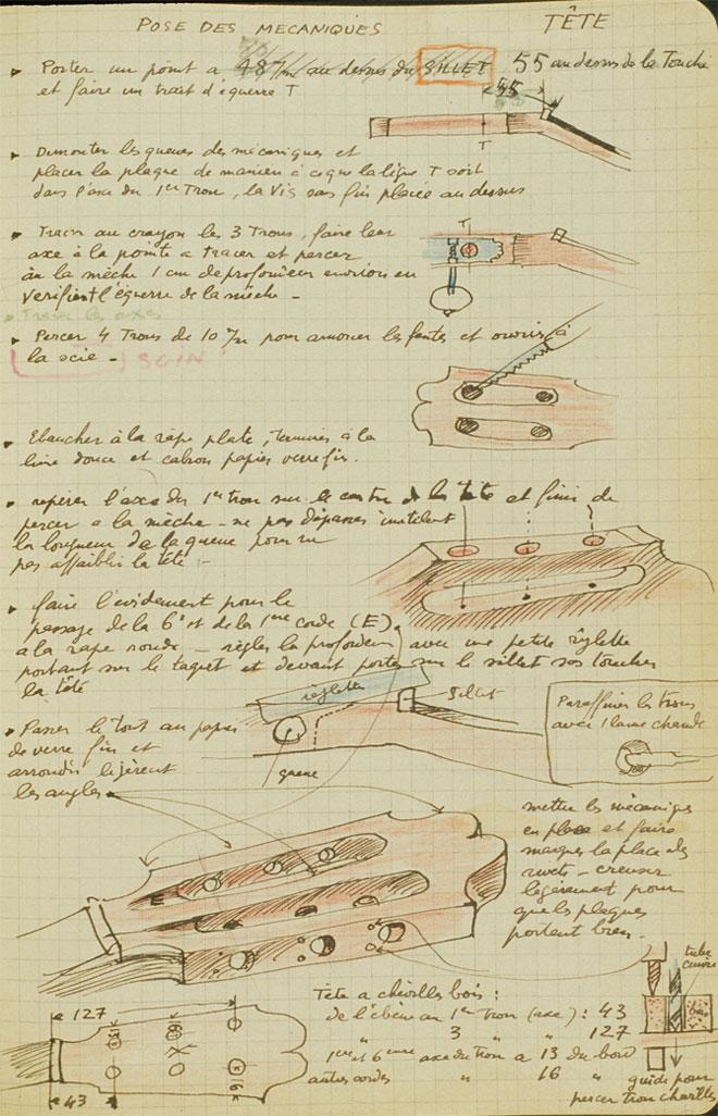 Cahier de Robert Bouchet, Paris, XXe siècle, page 85, © Cité de la musique - Richard Lambert