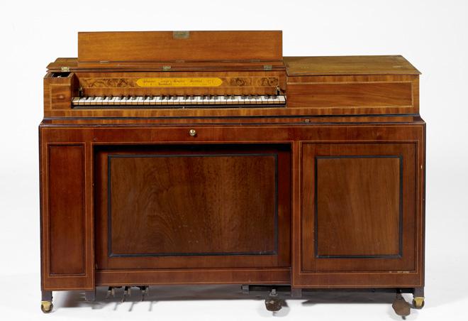 Piano carré organisé, Zumpe und Buntebart, Londres, 1774