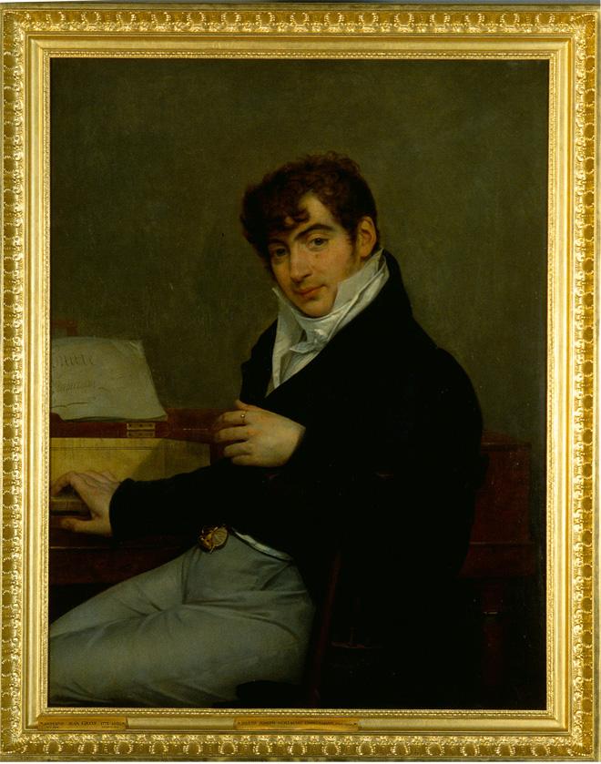 Portrait de Pierre-Joseph-Guillaume Zimmermann , A.J. Gros, 1808 © Cité de la musique - Photo : Jean Marc Anglès