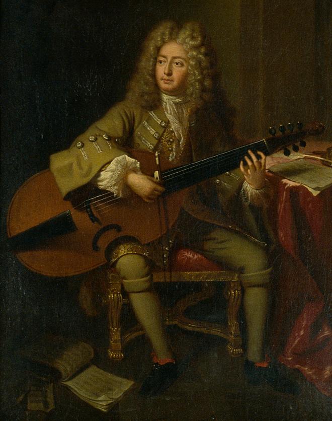 Portrait de Marin Marais, André Bouys, 1704 © Cité de la musique - Photo : Jean-Marc Anglès