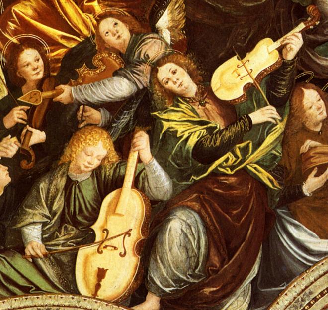 Assomption de la vierge : concert des anges,  Saronno sanctuaire San Maria dei Mi Miracoli, Gaudenzio Ferrari © Scala, Florence