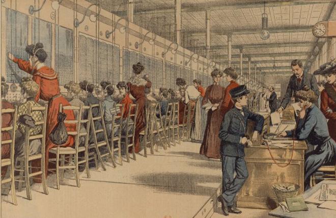 Les demoiselles du téléphone, 1904 © BnF