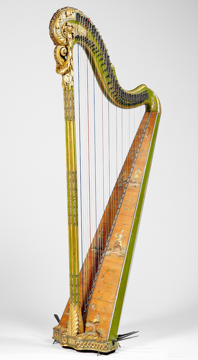 Harpe, Georges Cousineau, Paris, vers 1783 © Cité de la musique -  Photo : Albert Giordan
