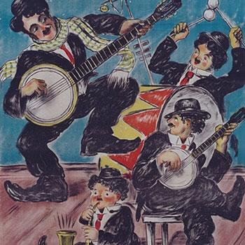 Jazz band, par Erich Lüdke, 1923 © Österreichische Nationalbibliothek