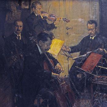 Le Quatuor Striegler, par Robert Hahn © SLUB- Deutsche Fotothek