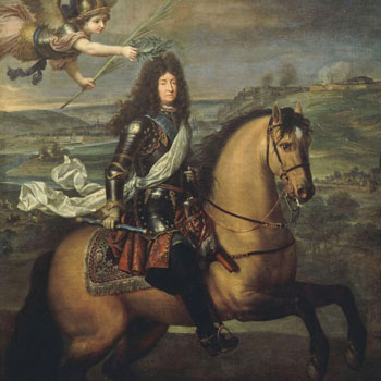Louis XIV couronné par la Victoire devant Namur en 1692, par Pierre Mignard © Château de Versailles
