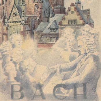 Bach à Leipzig © Historische Bildpostkarten - Universität Osnabrück