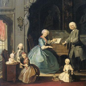 Famille réunie autour d'un clavecin, par Cornelis Troost, 1739 © Rijksmuseum, Amsterdam