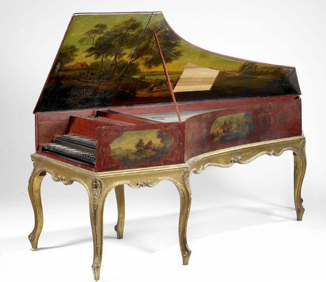 Clavecin à deux claviers, début XVIIIe, photographie de Claude Germain © Philharmonie de Paris, Musée de la Musique