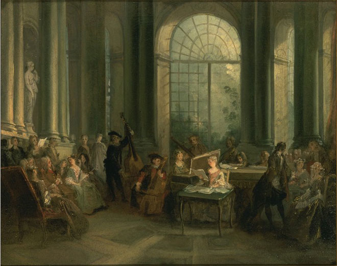 Concert dans le salon de Pierre Crozat Vers, par Nicolas Lancret, 1720-1724 © Dallas Museum of Art