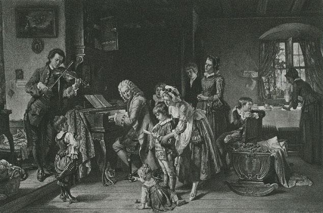 La prière du matin chez Johann Sebastian Bach, par Toby Edward Rosenthal © NY Public Library, digital collections