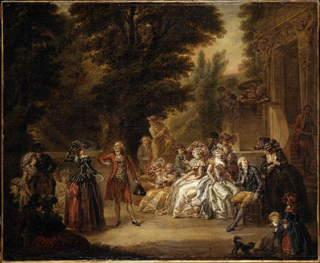 Le Menuet sous le chêne, par Francois Louis Joseph Watteau, 1787 © Musée des beaux-arts de Valenciennes