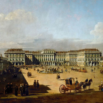 Le château de Schönbrunn à Vienne (détail), par Bernardo Bellotto, 1758-1761 © Kunsthistorisches Museum, Vienne