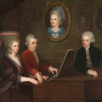 Portrait de la famille Mozart, de Johann Nepomuk della Croce © Stiftung Mozarteum, Salzbourg