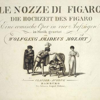 Première page de la partition des Noces de Figaro © Österreichische Nationalbibliothek