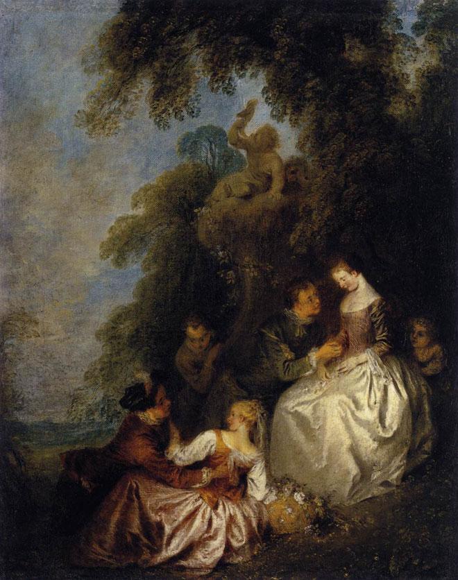 Conversation galante, par Jean-Baptiste Pater © Musée du Louvre