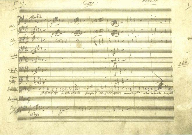 Così fan tutte de Mozart, fac-simile de partition © Staatsbibliothek zu Berlin