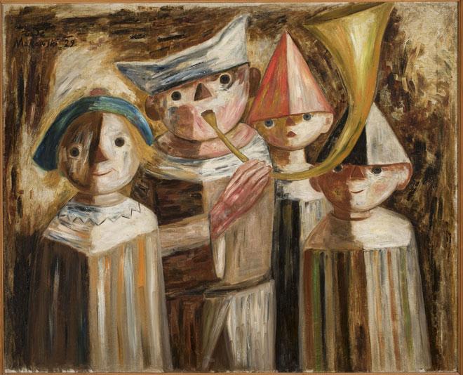 Quatre enfants avec une trompette, par Tadeusz Makowski, 1929 © Musée national de Varsovie