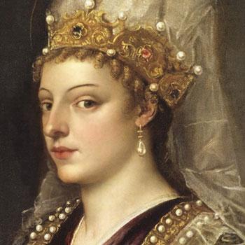 Portrait de Caterina Cornaro, reine de Chypre, attribué à Le Titien © Galerie des offices, Florence