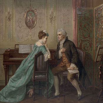 La demande en mariage, d'après Otto Erdmann © Library of Congress