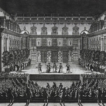 Représentation d'Alceste de Lully et Quinault, le 4 juillet 1674 à Versailles © Gallica-BnF