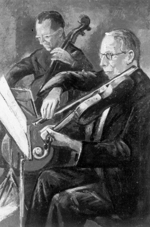 Duo von Beethoven, par Kurt Schuster © SLUB - Deutsche Fotothek