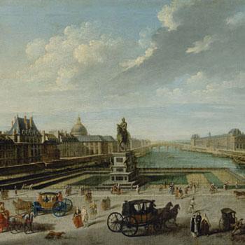 Vue de Paris depuis le Pont Neuf, par Nicolas Jean-Baptiste Raguenet, 1763 © J. Paul Getty Museum, Los Angeles
