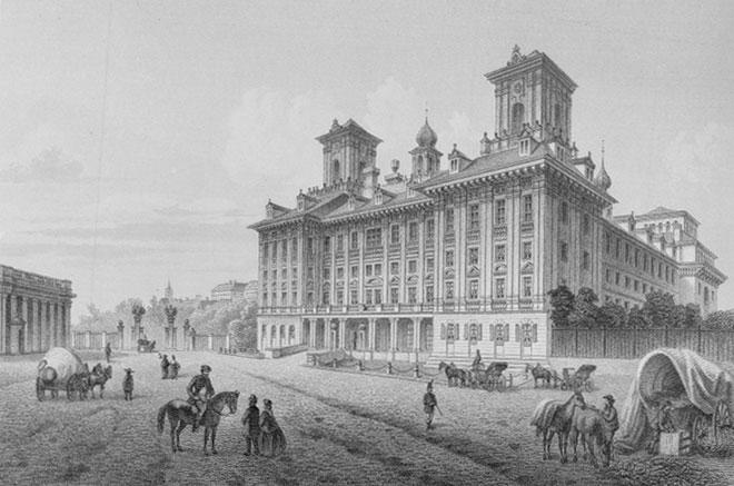 Eisenstadt, vue du palais Esterhazy vers 1850, par Ludwig Rohbock © Österreichische Nationalbibliothek
