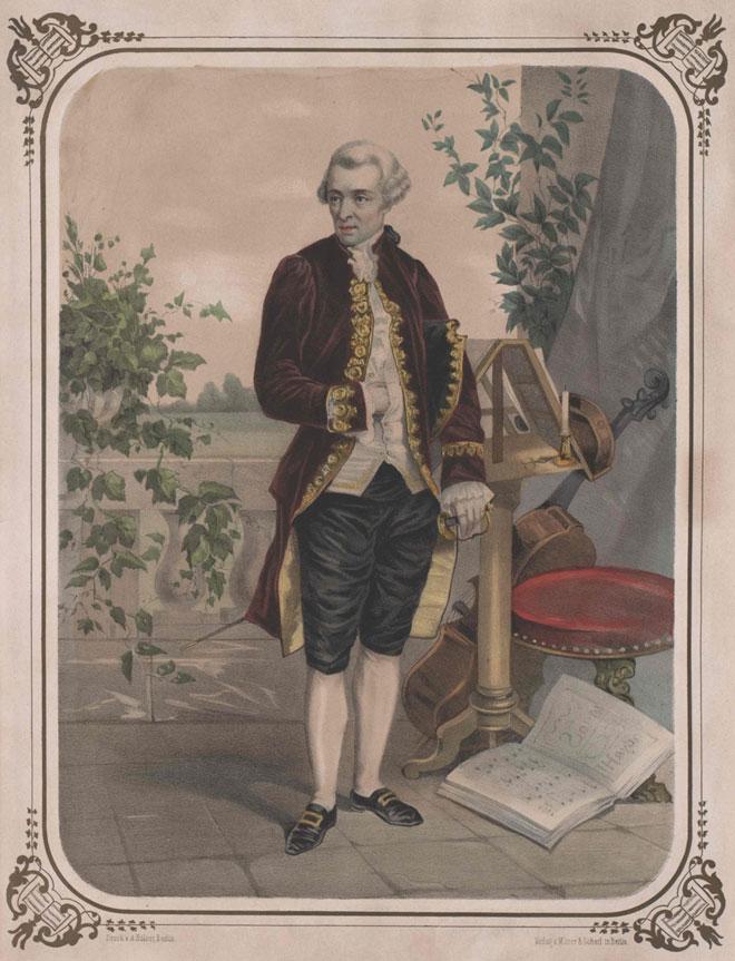 Portrait de Joseph Haydn devant son pupitre © Österreichische Nationalbibliothek