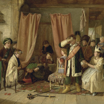 Enfants jouant la scène 2 de l'acte II de Hamlet, par Charles Hunt, 1863 © Yale Center for British Art, Paul Mellon Fund