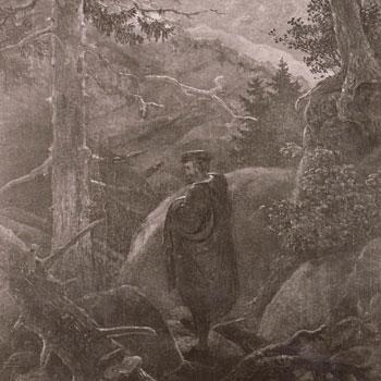 Faust dans les montagnes, par Carl Gustav Carus © SLUB-Deutsche Fotothek