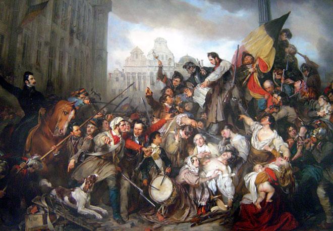 Épisode des journées de Septembre 1830 à Bruxelles, par Gustave Wappers © Musées royaux des beaux-arts de Belgique