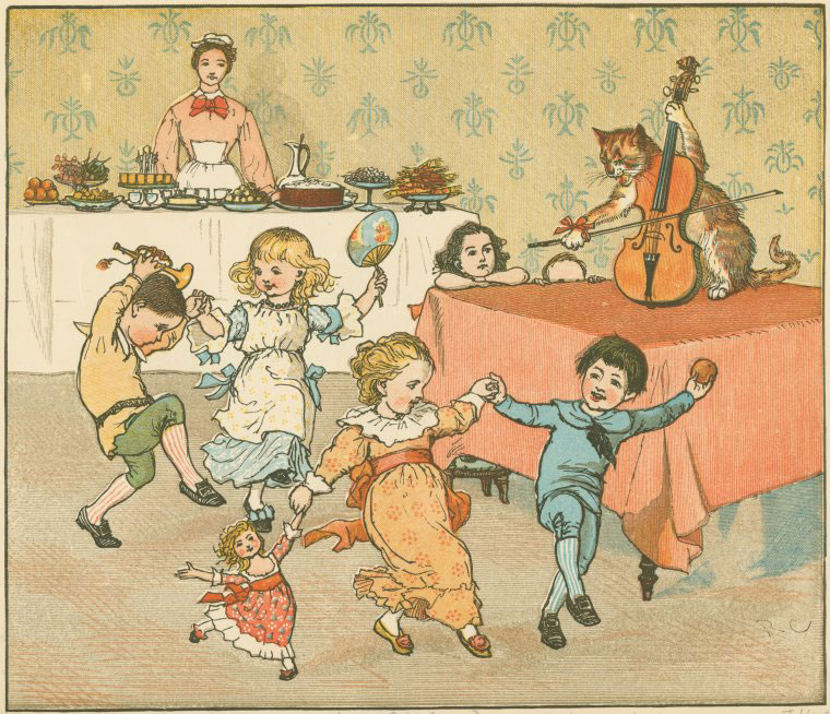 Hey diddle diddle, the cat and the fiddle © NY Public Library, digital collections