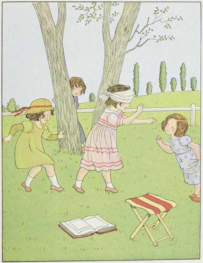 Jeux d'enfants: Colin-Maillard, par Marie-Madeleine Franc-Nohain © Gallica-BnF