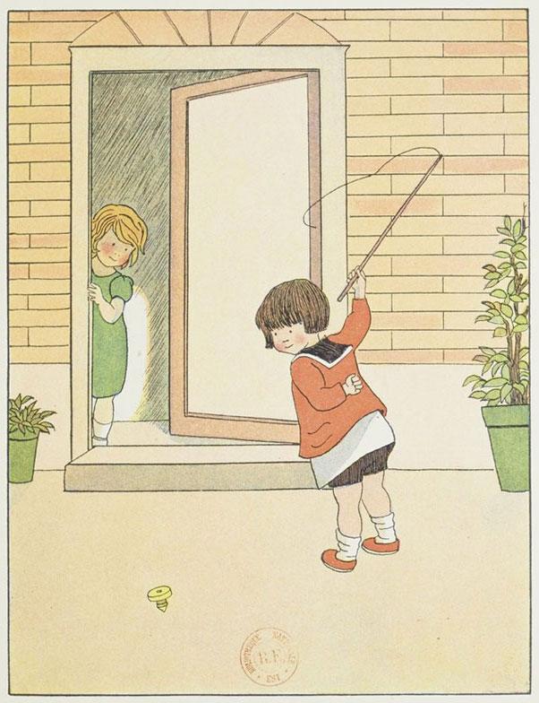 Jeux d'enfants: la toupie, par Marie-Madeleine Franc-Nohain © Gallica-BnF