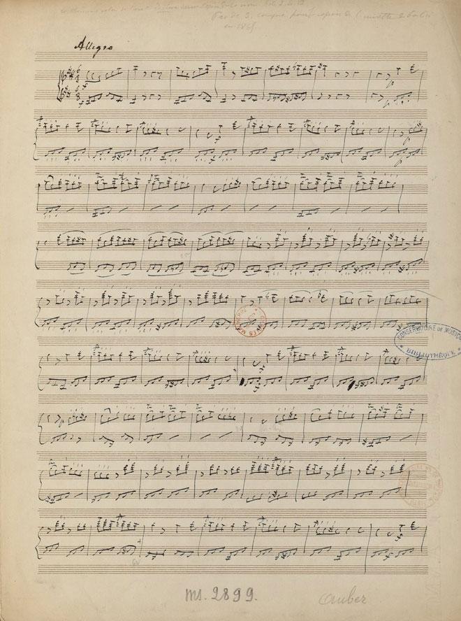 La Muette de Portici, Acte I scène VI, manuscrit autographe de Auber © Gallica-BnF