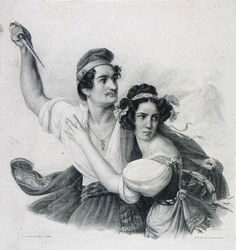 Masaniello et Fenella © Theatergeschichtliche Sammlung und Hebbelsammlung