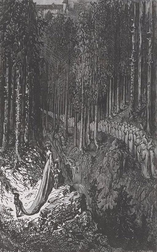 Procession et voix célestes dans les bois, d'après Gustave Doré © Gallica-BnF