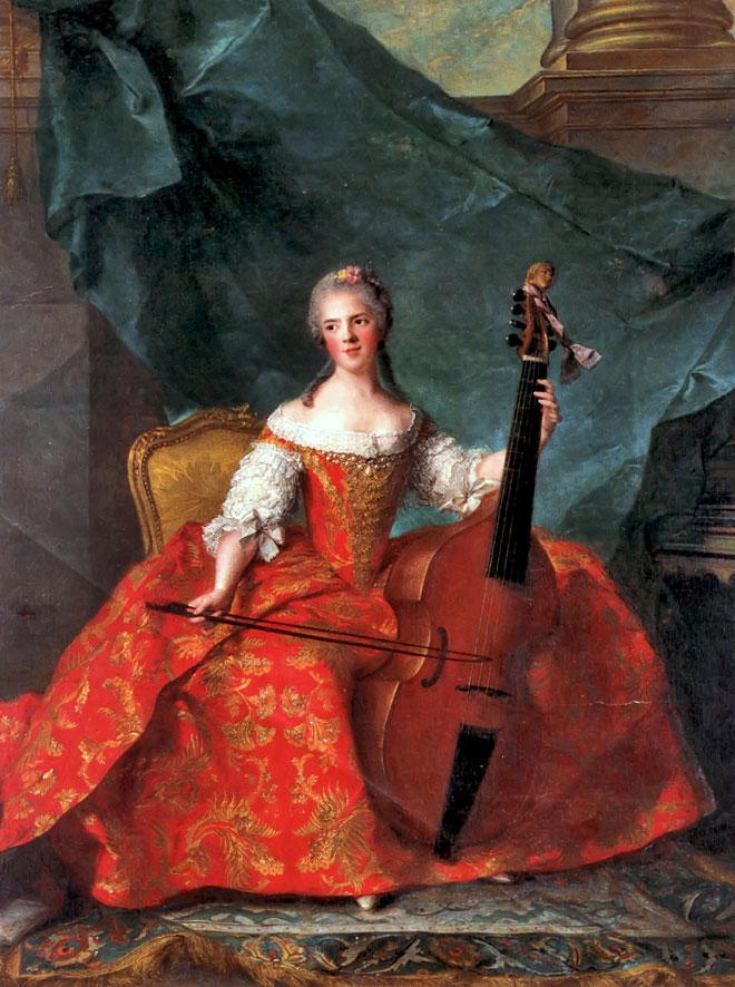 Madame Henriette jouant de la viole de gambe, par Jean-Marc Nattier © Château de Versailles