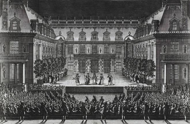 Représentation d'Alceste, de Lully et Quinault, le 4 juillet 1674 à Versailles © Gallica-BnF