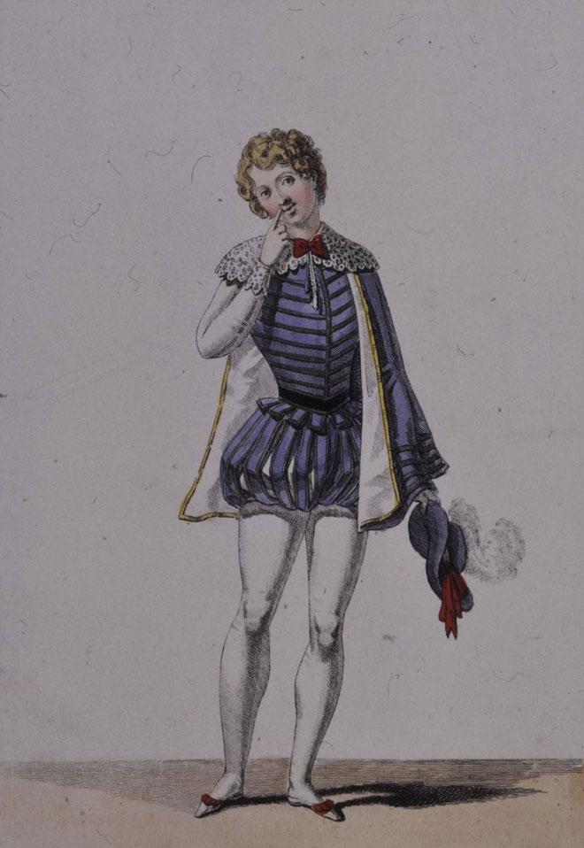 Costume pour le rôle de Chérubin © Gallica-BnF