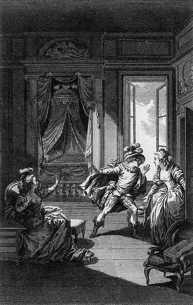 Illustration pour Les Noces de Figaro, acte II © Gallica-BnF