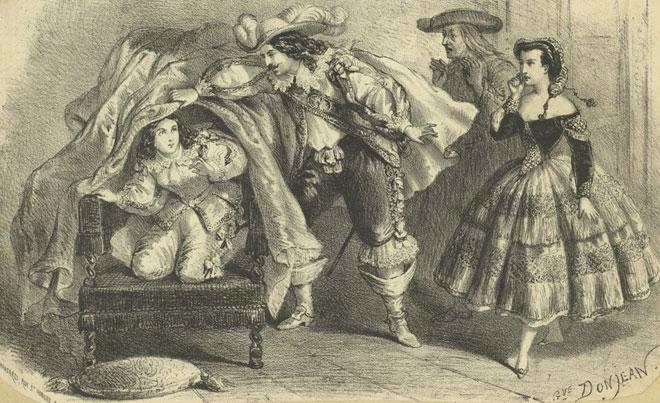 Les Noces de Figaro, acte I, estampe © Gallica-BnF