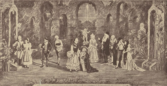 Les Noces de Figaro, acte IV (estampe) © Gallica-BnF