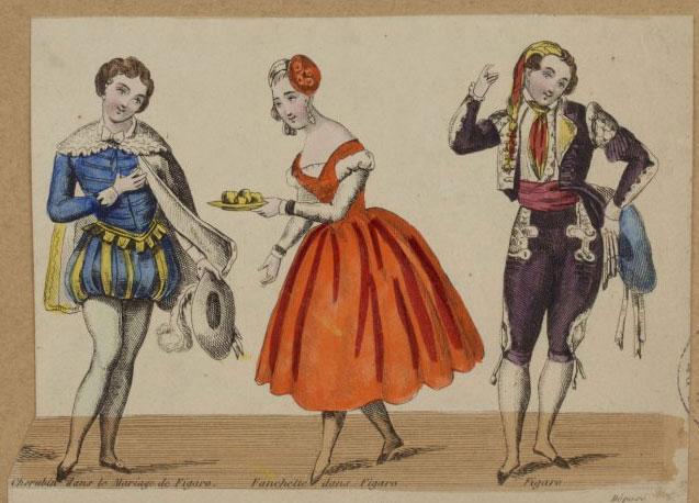 Les personnages du Mariage de Figaro © Gallica-BnF