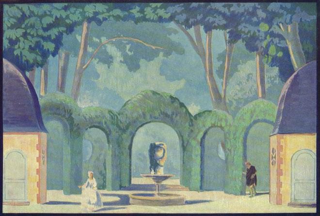 Maquette de décor pour Les Noces de Figaro, par Dresa © Gallica-BnF