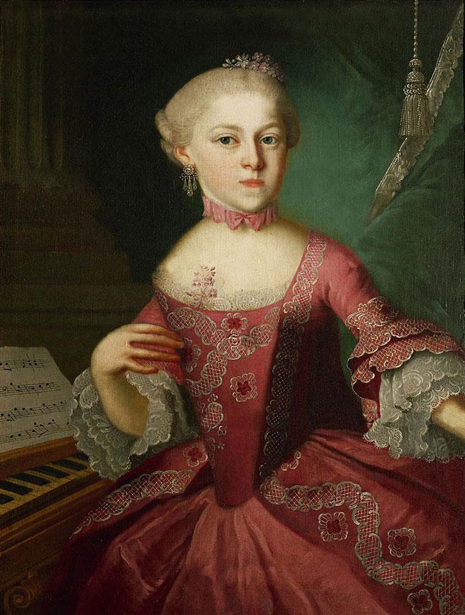 Portrait de Nannerl, par Lorenzoni © Stiftung Mozarteum, Salzbourg