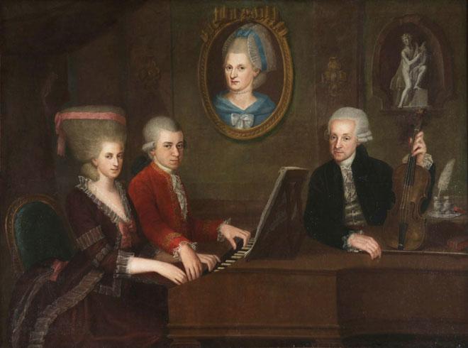 Portrait de la famille Mozart, par Johann Nepomuk della Croce © Stiftung Mozarteum, Salzbourg